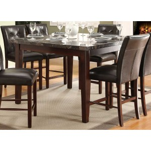 Decatur Wood Counter Dining Table by Homelegance