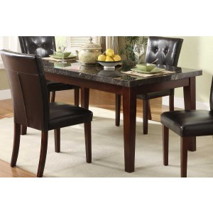Decatur Rectangular Wood/Marble Dining Table by Homelegance