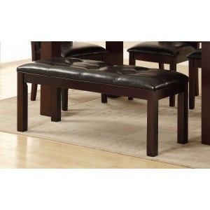 Lee Transitional Vinyl/Wood Dining Bench by Homelegance