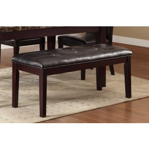 Teague Transitional Vinyl/Wood Dining Bench by Homelegance