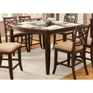 Keegan Classic Wood Counter Dining Table by Homelegance by Homelegance