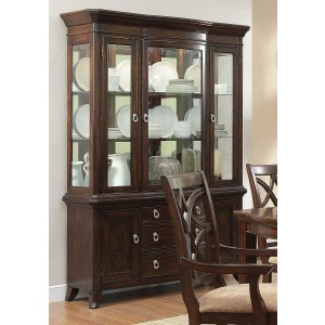 Keegan Classic Glass/Wood China Cabinet by Homelegance