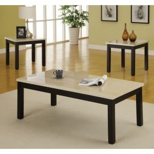 Archstone Wood Occasional Table Set (Coffee Table + 2 End Tables) by Homelegance