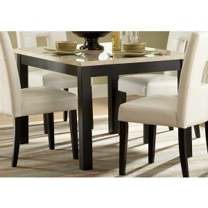 Archstone Rectangular Faux Marble/Wood Dining Table by Homelegance
