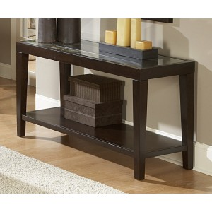 Vincent Glass Console Table by Homelegance