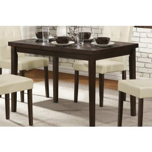 Ahmet Modern Rectangular Wood Veneer Dining Table by Homelegance