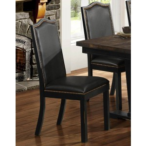 Nuland Rustic Vinyl/Wood Dining Chair by Homelegance
