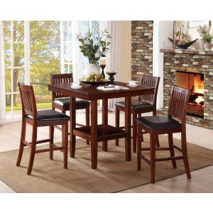 Galena Transitional Counter Dining Room Set (Table + 4 Chairs) by Homelegance