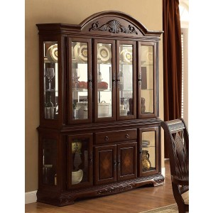 Norwich Leg Classic Glass/Wood China Cabinet by Homelegance