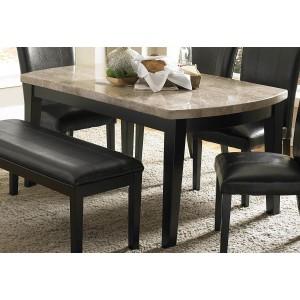 Cristo Rectangle Wood/Wood Veneerarble Dining Table by Homelegance