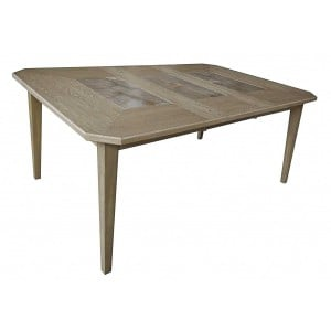 Geranium Transitional Rectangular Wood Extendable Dining Table by Homelegance