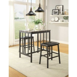 Edgar Industrial  Counter Dining Room Set (Table + 2 Chairs)