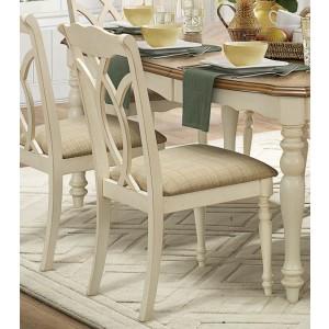 Azalea Rustic Fabric/Wood Dining Chair by Homelegance