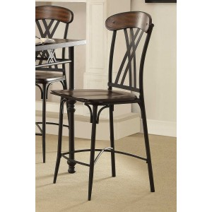 Loyalton Industrial  Wood/Metal Counter Dining Chair by Homelegance