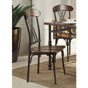 Loyalton Industrial Wood/Metal Dining Chair by Homelegance