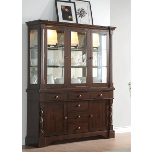 Yates Classic Glass/Wood China Cabinet by Homelegance