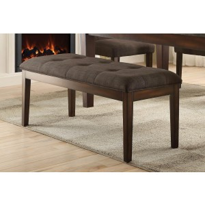 Dorritt Transitional Fabric/Wood Dining Bench by Homelegance