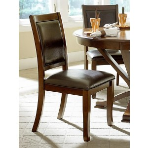 Helena Transitional Vinyl/Wood Dining Chair by Homelegance