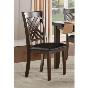 Sandia Transitional Leather/Wood Dining Chair by Homelegance