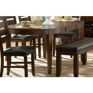 Ameillia Classic Oval Wood Veneer Dining Table by Homelegance