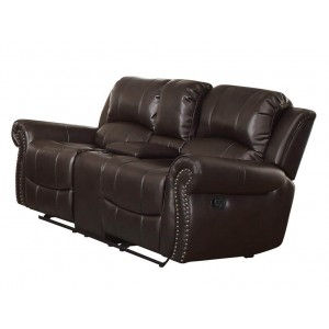Annapolis Leather Loveseat by Homelegance
