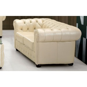 258 Leather/Eco-Leather Loveseat by ESF Furniture