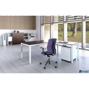 Impuls Executive Composition 1, Chestnut by MDD Office Furniture