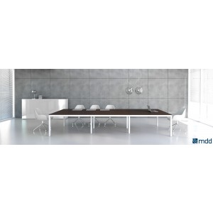 Impuls Conference Table, Chestnut by MDD Office Furniture