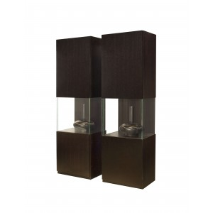 Iris Wood/Glass Display Curio by Sharelle Furnishings