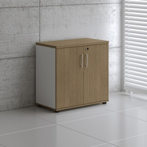 Basic K2104 Low Office Storage Unit w/2 Doors by MDD Office Furniture