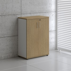 Basic K3104 Low Office Storage Unit w/2 Doors by MDD Office Furniture