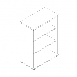 Basic 3OH Medium Office Bookcase by MDD Office Furniture