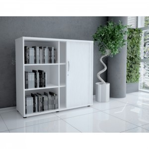 Basic 3OH Medium Tambour Storage Cabinet by MDD Office Furniture
