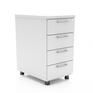 Standard Stationary Pedestal w/4 Drawers by MDD Office Furniture