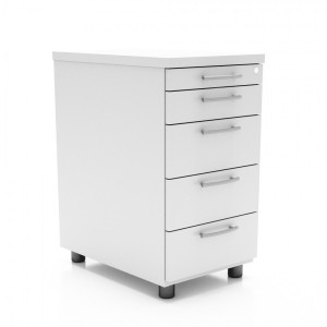 Standard Stationary Pedestal w/5 Drawers by MDD Office Furniture