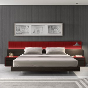 Lagos Premium Bedroom Set, Red by J&M Furniture