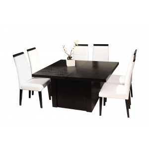 Largo Wood Dining Table w/Extensions by Sharelle Furnishings