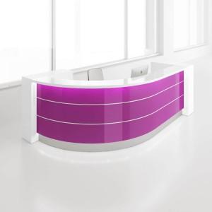 VALDE J Shaped Reception Desk by MDD Office Furniture
