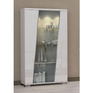 Lisa Contemporary 2-Door China Cabinet by Status, Italy