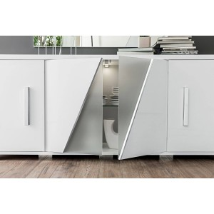 Lisa Contemporary 4-Door Buffet by Status, Italy