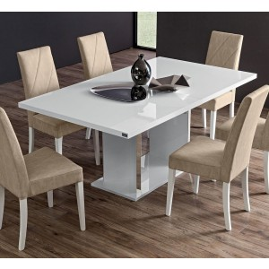 Lisa Contemporary Rectangular Extendable Dining Table by ESF Furniture