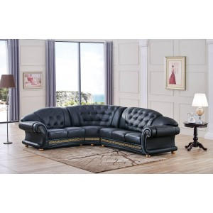 Apolo Leather/Split Sectional by ESF Furniture