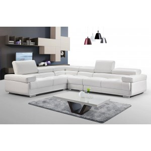 2119 Leather/Eco-Leather Sectional by ESF Furniture