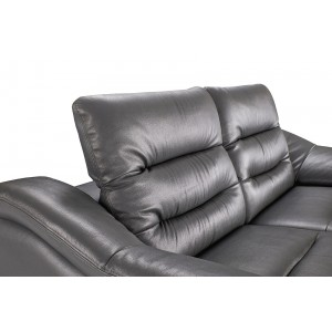 972 Leather/Eco-Leather Living Room Set w/Recliner by ESF Furniture