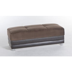 Luna Ottoman Naomi Brown by Sunset (Istikbal) Furniture