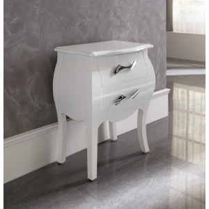 M95 Nightstand, White by Dupen Furniture, Spain