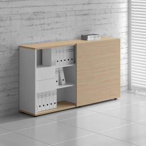 Standard ZS03 Tall Managerial Storage Cabinet w/Sliding Door by MDD Office Furniture by MDD Office Furniture