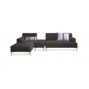 Manhattan Sectional w/Ottoman, Left Arm Chaise Facing
