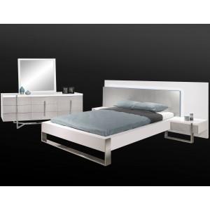 Martelli Lacquer LED Platform Bedroom Set by Sharelle Furnishings