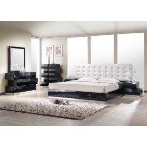 Milan Bedroom Set, Black by J&M Furniture